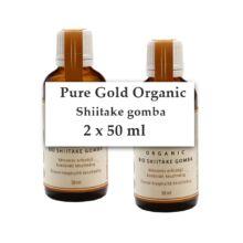 Pure Gold Organic BIO Shiitake gomba folyékony kivonat 2x50 ml